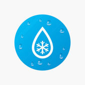 Defrosting sign icon. — Stock Vector