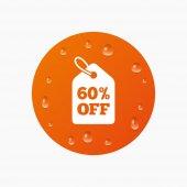 Precio de venta del 60 por ciento — Vector de stock