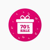 70 percent sale gift box — Stock Vector