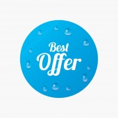 Best offer sign icon. — Stock Vector