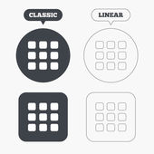 Thumbnails grid icons — Stock Vector