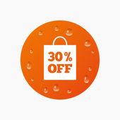 30 procent verkoop tas — Stockvector