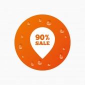 Indicador de venta de 90 por ciento — Vector de stock