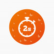 Timer 2s sign icon. — Stock Vector #78749286
