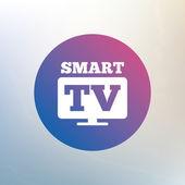Widescreen Smart TV sign icon. — Stock Vector