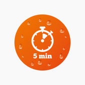 Timer sign icon. 5 minutes — Stock Vector