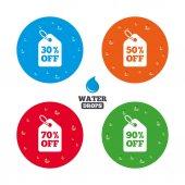 Iconos de etiqueta de precio de venta. — Vector de stock