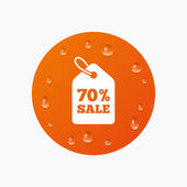70 procent verkoopprijs — Stockvector