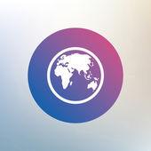 Globe sign icon. — Stock Vector