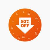 50 procent verkoop pijl — Stockvector