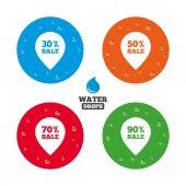 Iconos de venta puntero tag. — Vector de stock