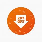 20 procent verkoop pijl — Stockvector