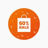 Bolsa de venta de 60 por ciento — Vector de stock