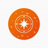 Compass sign icon. — Stock Vector