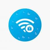 Wifi locked sign. — Stock Vector