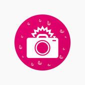 Photo camera sign icon. — Stock Vector