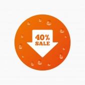 40 procent verkoop pijl — Stockvector