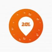 20 procent verkoop aanwijzer — Stockvector