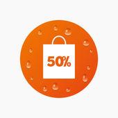 50 procent verkoop tas — Stockvector