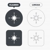 Compass sign icons — Stock Vector