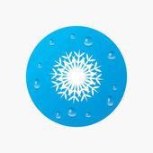 Snowflake artistic sign icon. — Stock Vector