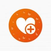 Heart sign icon. — Stock Vector
