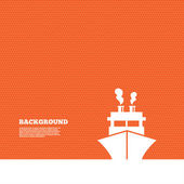 Icône de signe de navire ou bateau. — Vecteur
