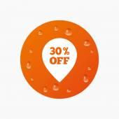 30 procent verkoop aanwijzer — Stockvector