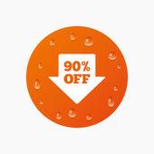 90 procent verkoop pijl — Stockvector