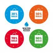 Iconos de venta bolsa etiqueta. — Vector de stock