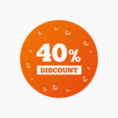 40 percent discount sign icon. — Stock Vector