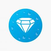 Diamond sign icon. — Stock Vector