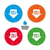 Iconos de etiqueta venta flecha — Vector de stock