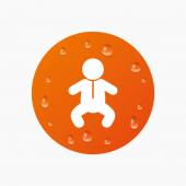 Baby infant sign icon. — Stock Vector
