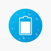 Battery level sign icon. — Stock Vector