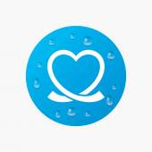Heart ribbon sign icon. — Stock Vector