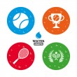 Tennis ball and rackets icons. — Stock Vector #79705888