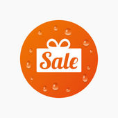 Sale gift sign icon. — Stock Vector