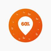 60 percent sale pointer — Stock Vector