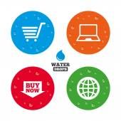 Online shopping icons set. — Stock Vector