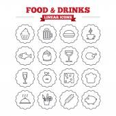 Food and Drinks icons set. — Stock Vector