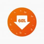 60 percent sale arrow — Stock Vector