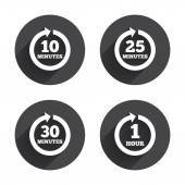 Every few minutes icons. — Stock Vector