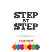 Step by step sign icon. — Stock Vector