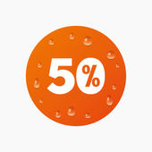 50 percent discount icon.  . — Stock Vector