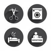 Hotel services icons set. — Stock Vector