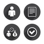 Bank loans, finance icons set — Stock Vector