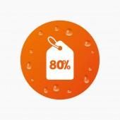 80 percent sale price — Stock Vector