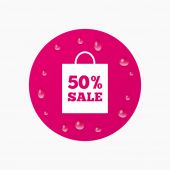 50 percent sale bag — Stock Vector