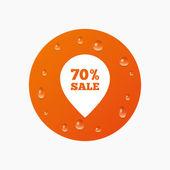 70 percent sale pointer — Stock Vector